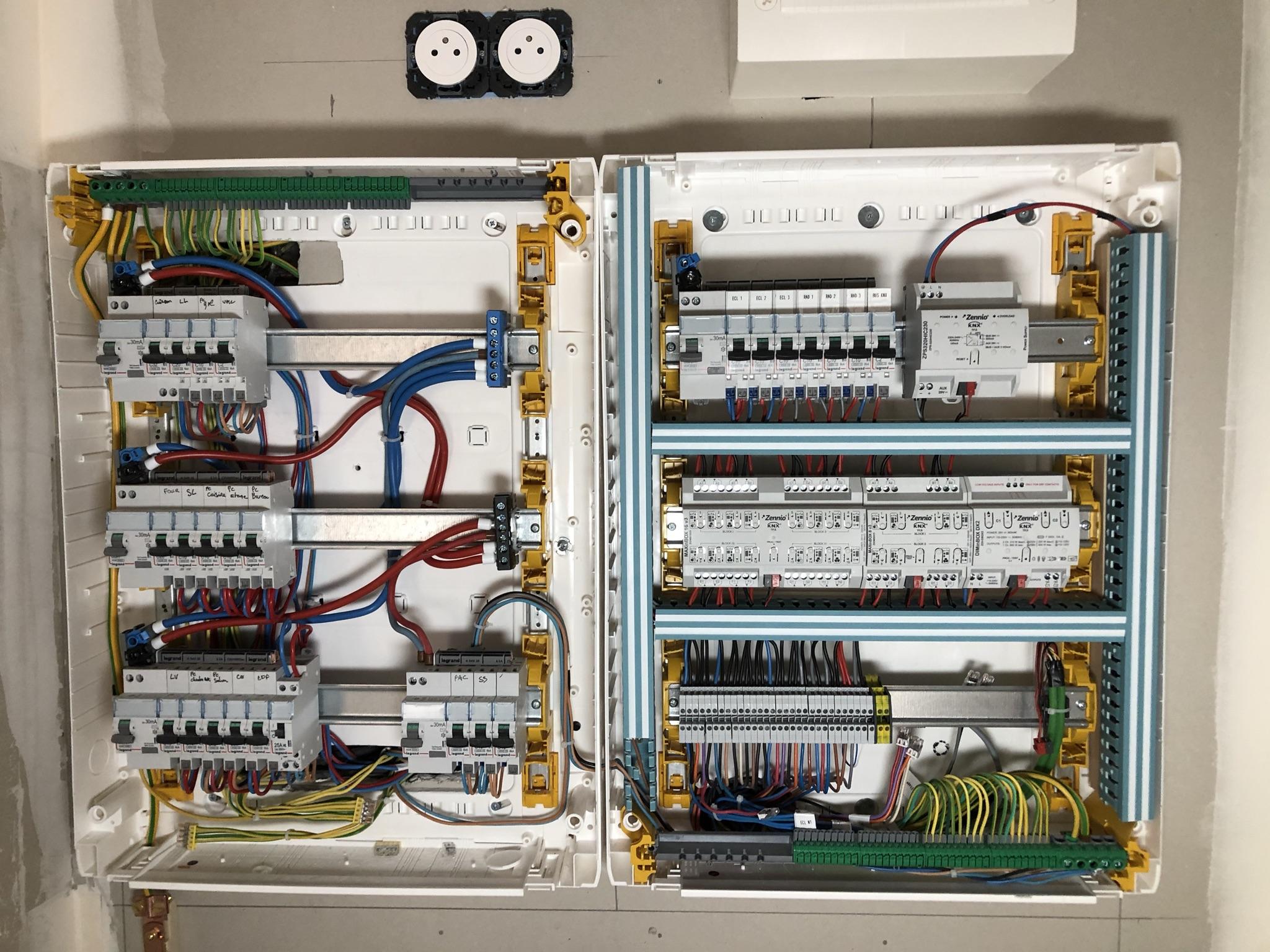 Installation électrique domotique KNX